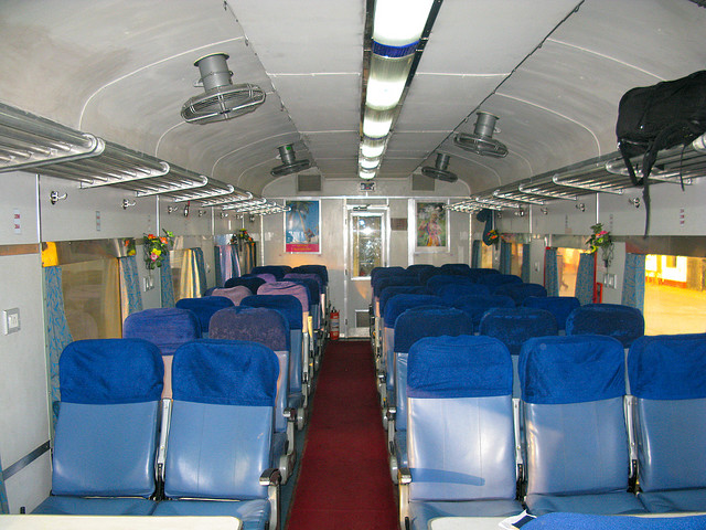 Inside a train in Bangladesh