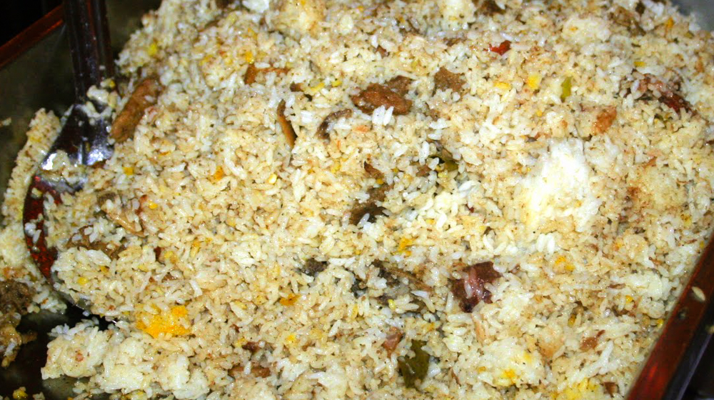 Biriyani, the authentic local food of Dhaka.
