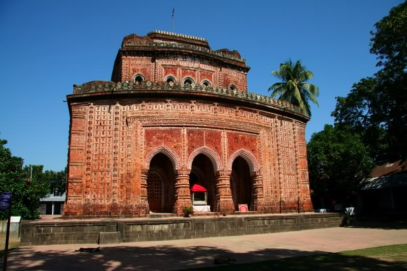 Front view of Kantaji Temple in Bangladesh