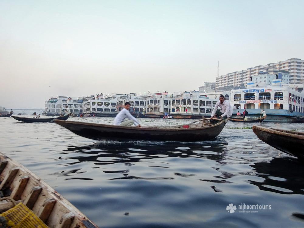 Boats at Buriganga river