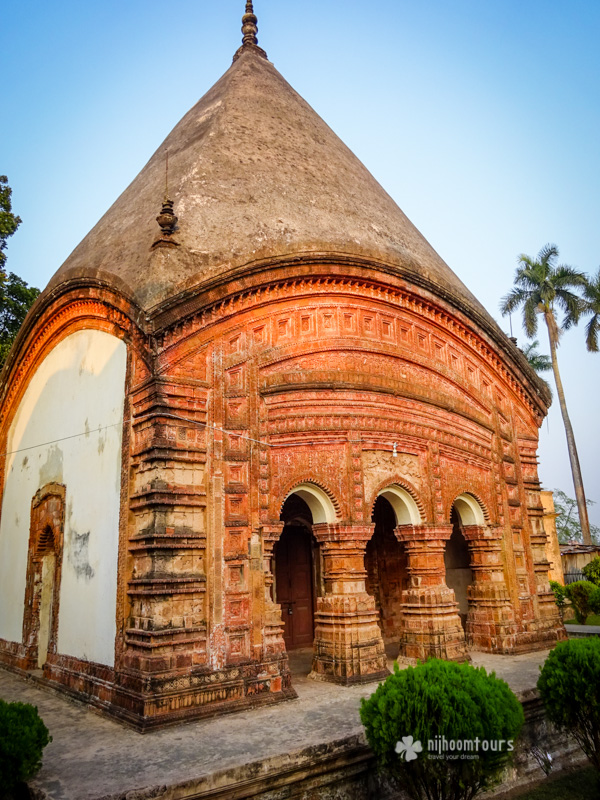 Temples of Puthia with intricate terracotta designs