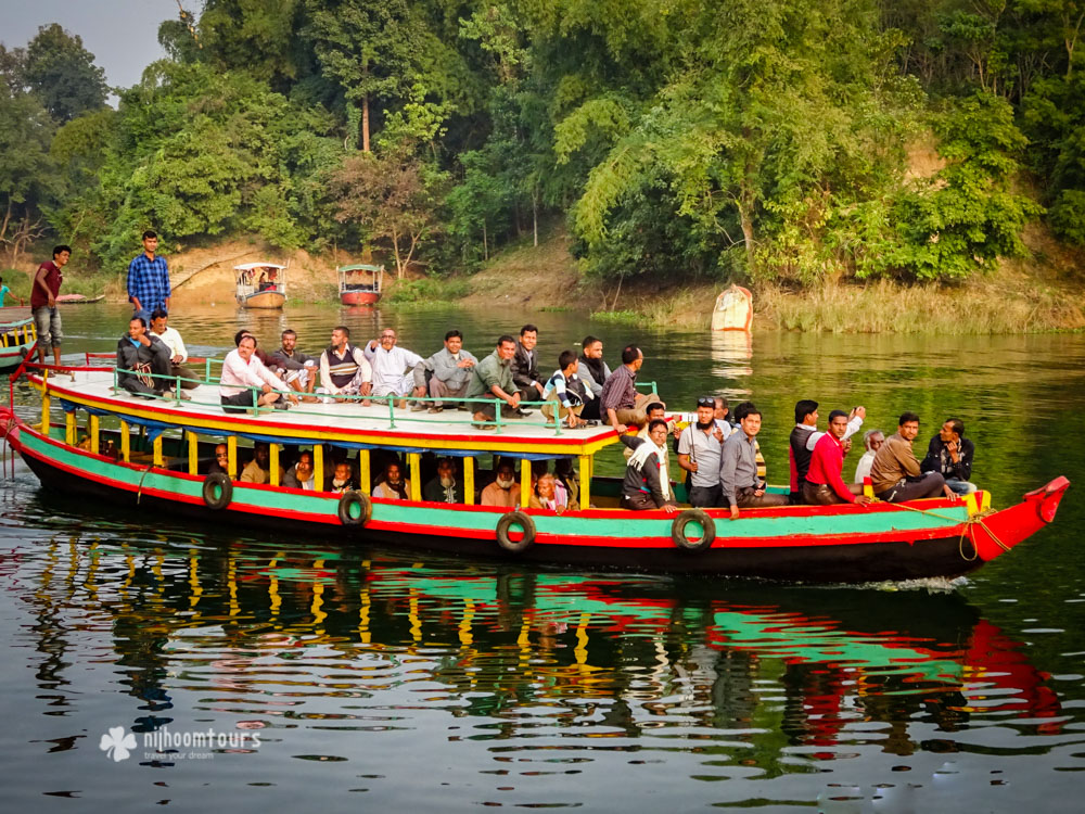 Local commuters at Kaptai Lake
