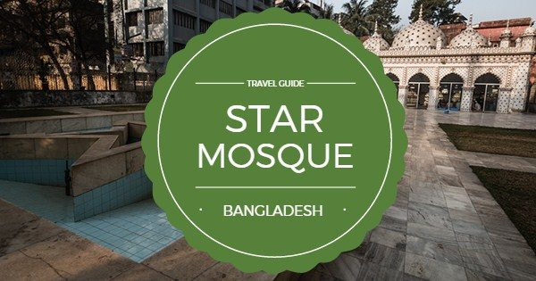 Beautiful Star Mosque (Tara Masjid) in Old Dhaka