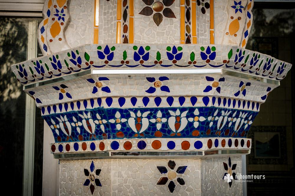 Beautifully decoration wall of Star Mosque (Tara Masjid)
