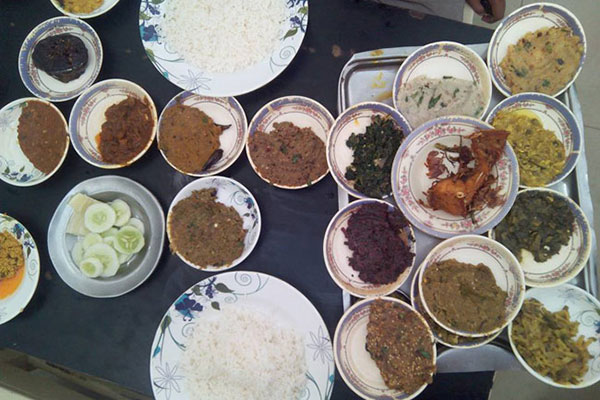Rice with Curry, Vorta, Vaji, and Daal - Everyday Bangladeshi food
