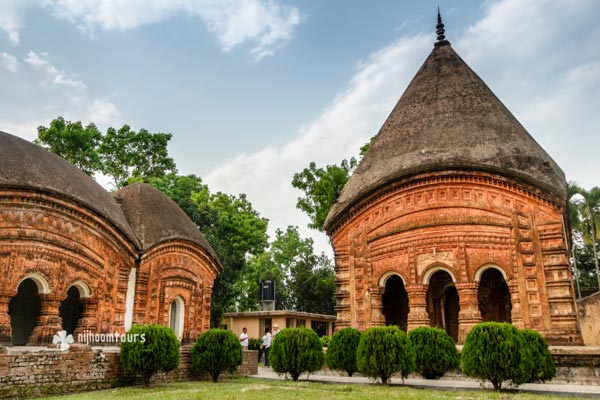 Beautiful terracotta temples of Puthia