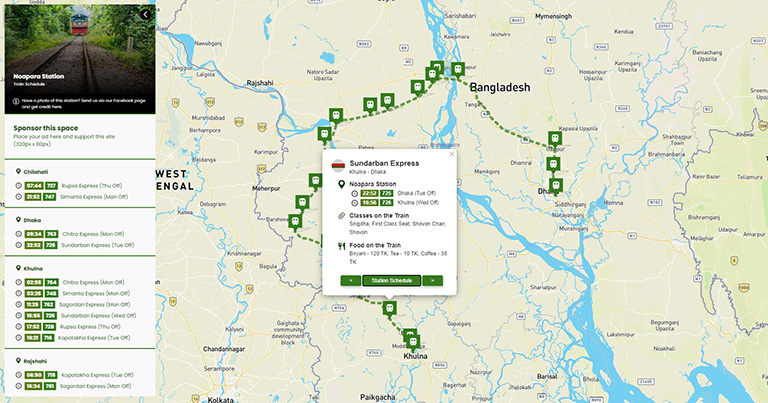 GeoRail Bangladesh - Railway information on the map