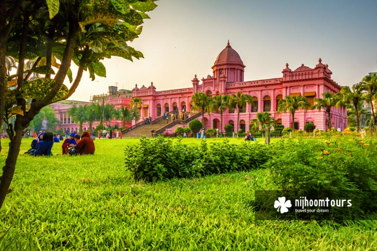 A photo of Ahsan manzil (Pink Palace) in Old Dhaka at present