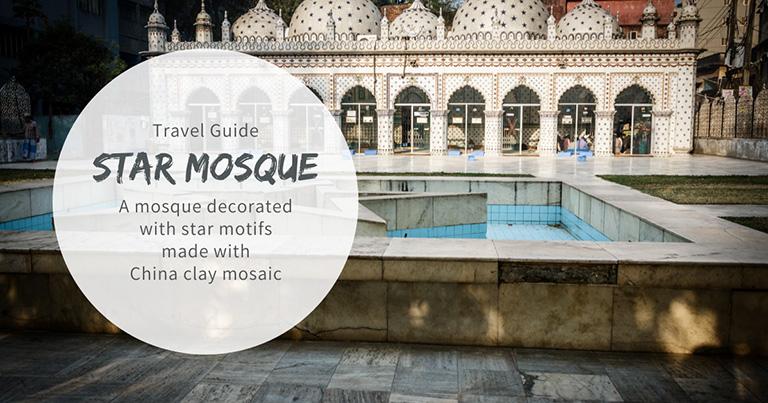 Star Mosque (Tara Masjid) decorated with star motifs made with China clay mosaic