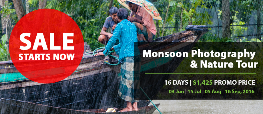 16 Days Monsoon Photography & Nature Tour in Bangladesh
