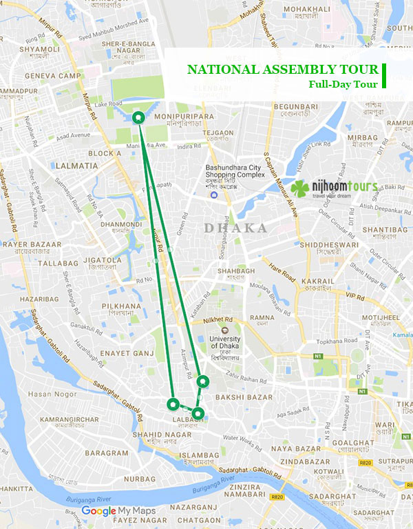 Tour map of National Assembly tour