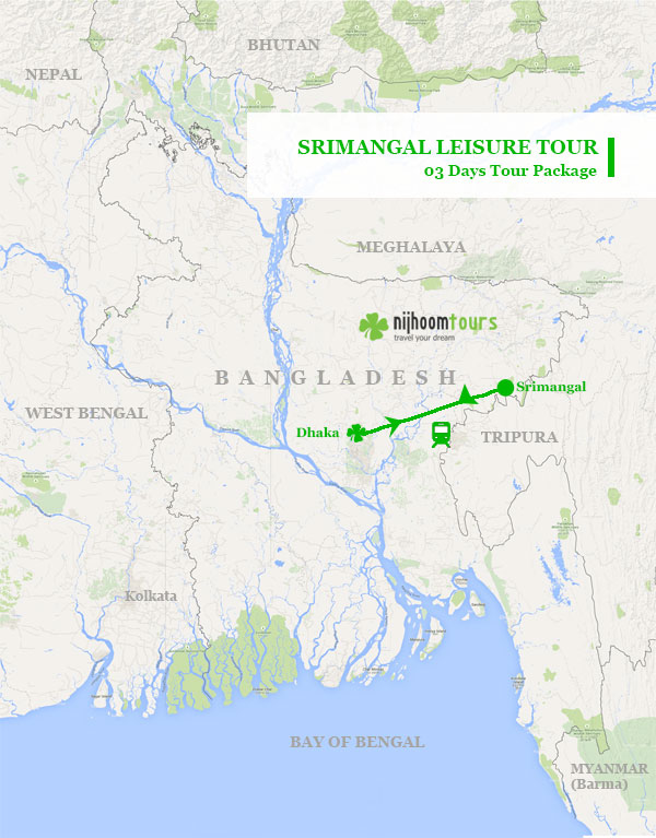 Srimangal Leisure Tour Map