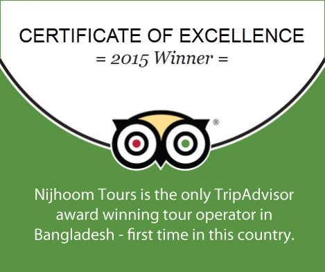 Only TripAdvisor award winning tour operator in Bangladesh.