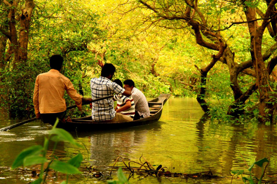 boat riding at ratargul swamp forest